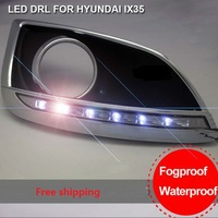 Free shipping Super Bright Car Safety LED DRL For Hyundai IX35