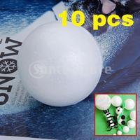 Free Shipping  10pcs 8cm White Modelling Craft Polystyrene Foam Balls Spheres