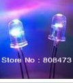 Bright LED light-emitting diode 5mm colorful flash automatically flashes red, green and blue alternating fast and slow flash