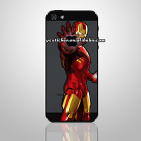 Free Shipping The Iron Man Sticker for iPhone4 for iPhone5 Backside Local Stickers Decals for iPhone Sticker Decal Skin