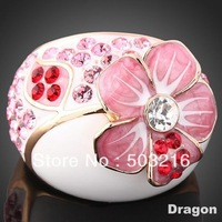 Free Shipping High Quality  Imitation Diamond Zircon Rings Jewelry