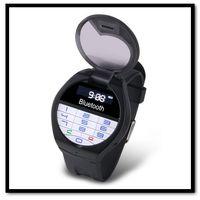 Free Shipping Bluetooth Wireless Wristwatch Bracelet LCD Caller ID Vibration Alert/Digital Time/Keyboard Answer/Dialing/Hangup