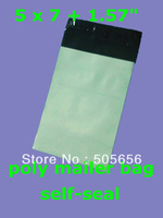 "[PM57]--5""x 7"" 12.7x 17.8cm [100pcs] good quality Poly Mailer bags Plastic envelope courier mailer"