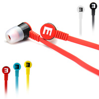 "Somic IS-R8 ""L"" Plug 3.5mm In-ear Earphone Headset For MP3/MP4 Headphone with Earbuds Flat Cable Earphone,1pcs Free shipping"