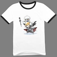 T-shirt black and white bleach short-sleeve godland