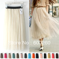 Free Shipping 2013 summer gauze skirt tutu the cents skirts network veil F0218