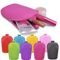 Silica gel mobile phone bag candy color wallet q super-soft multifunctional storage bag