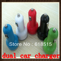 Dual USB Port Cigarette Car Charger For Apple IPhone 4 4G 4S New  Power Double Auto Micro 2.1A 2A