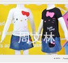 free shipping 5sets/lot hello kitty sets cartoon shorts kids clothing children's t-shirt+pants