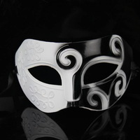 Free shipping white and black Roman Greek for Mens Halloween Costume masquerade masks venetian