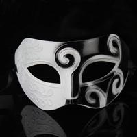 Free shipping white and black Roman Greek for Mens Halloween Costume masquerade masks venetian