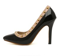 new arrive ,wholesale women rivet  high heel shoes for summer,best selling payless women shoes