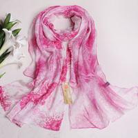 2013 wire spring and autumn silk scarf irregular double layer silk women's design long silk scarf