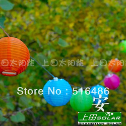 Solar Lantern multicolor festival lights lantern decoration tree lamp outdoor christmas courtyard lighting string night light(China (Mainland))