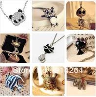 New Girls Fashion Necklace Choose From 9 Style panda/cat/ fish/ Animal Pendant