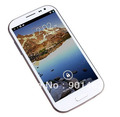 Free hk shipping White  5.0 Inch HD IPS Screen Feiteng H9500 MTK6589 S4 Quad core Android 4.2 MTK6589 5.0MP Front Camera 1GB RAM