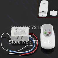 J34 Free Shipping 2 Ways Port ON/OFF 200V-240V Light Digital Wireless Wall Switch + Remote Control