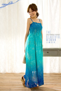 Free Shipping 1pcs/lot 2013 summer lady mermaid fancy one-piece dress with chiffon fabric
