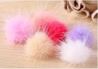 Fashion Plush Ball Style Earphone Anti-dust Plug for iPhone 4S / 4 / iPod / iPad