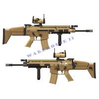 Free shipping! paper model 1:1 US FN SCAR-L Assault Sniper Rifle Pistol Submachine Shot gun toy gun weapon models