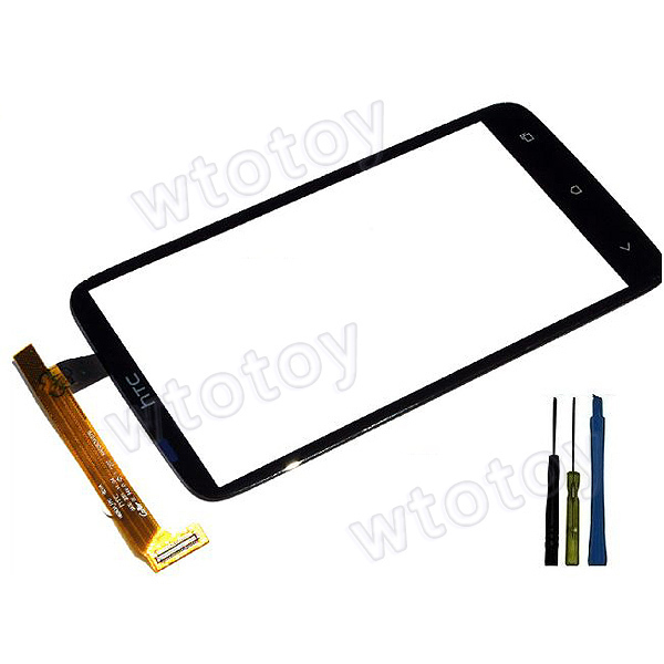 New Touch Screen Digitizer Glass Assembly HTC One X S720e G23 USA Black + TOOLS 16336(China (Mainland))
