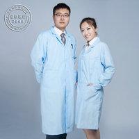 Hot Sale Medical Sky Blue physician services blue lab coat blue work wear lab coat white coat nurse clothing long-sleeve  DC028