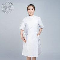 Free Shipping Hot Sale  Partial lapel collar stand nurse clothing beauty services nurse clothing white coat lab coat summerDC025