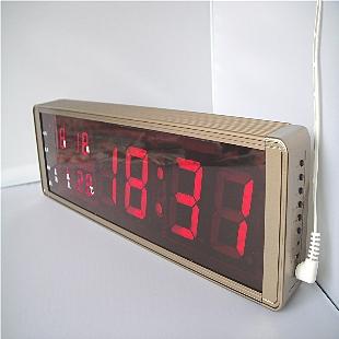 Free shipping Large led clock living room wall clock electronic clock fashion clock quieten timekeeping brief fashion luminous