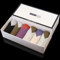 6pcs cotton colored ankle socks argyle wholesame socks slippers men's socks summer thin boxed men's socks gift box