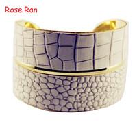 New Arrivals Pythons Snake Pattern PU Bangles Gold Metal Bracelets Unique Design Stretch Bangle Bracelet For Women