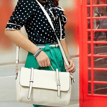 80 queen 2012 magazine vintage flip one shoulder cross-body women's faux handbag double arrow