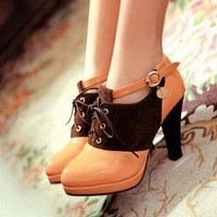 [Free shipping] 2013 New arrival fashion women's pumps high-heeled shoes thick heel platform female ankle boots big size