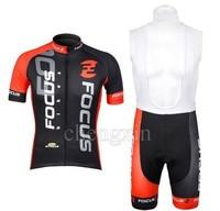 2012 FOCUS bib short sleeve cycling jersey wear clothes bicycle/bike/riding jersey+bib pants shorts