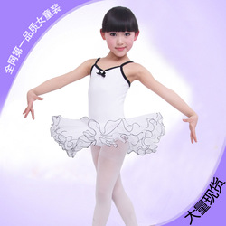 Fancy Girl ballet skirt Children dance Costume leotard princess children's clothing layered skirt White Pink Black+Free shipping(China (Mainland))