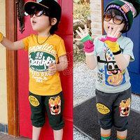 2013 summer boys clothing girls clothing baby child short-sleeve set tz-0678 (CC019N)