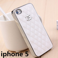 High Quality Cell Phone Cases Leather Back Cover With Retail Box Packing for Iphone 5 Case