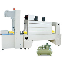Bottle wrapping-sealing-shrinking one stop packaging machinery,suit to PE POF sleeve film,heat shrinker,automatic equipment