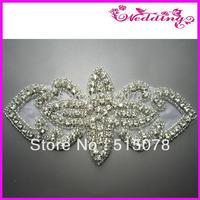 2013 Fashion Gold rhinestone applique for wedding dress