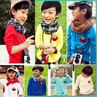 Free shipping Spring children's clothing sesame street child male female child long-sleeve T-shirt basic shirt top d tx009
