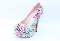 SAR cheap rhinestone platform pumps air  pumps heel less high heels