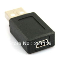 10pcs/lot USB A Male to Mini B 5 Pin Female Adapter Converter