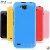 Silicone Color Jelly Case For Gionee GN708w FLY IQ446 Xolo Q800 AllView P5 Case Gel ,Multi-color+Screen Protector,Free Shipping