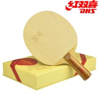 Authentic DHS red collection limited edition 08 7 layer of pure wood table tennis table tennis racquet floor slab