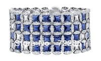Free mail 925 silver fashion jewelry bracelet    Brand exaggerated bracelet    Sapphire bracelet