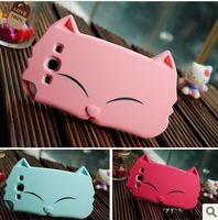 Hot! Korea cartoon Big iface kitty kiki cat soft silicone case cover case Samsung galaxy s3 i9300 retail box free shipping