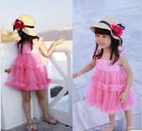 Wholesale - summer new lace bow yarn Dress super beautiful lovely princess vest dress children clothes
