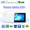 DHL Free shipping  7 inch  Phone call MID GSM 850/900/1800/1900 Allwinner A13+capacitive+dual camera+android 4.0 MID A701