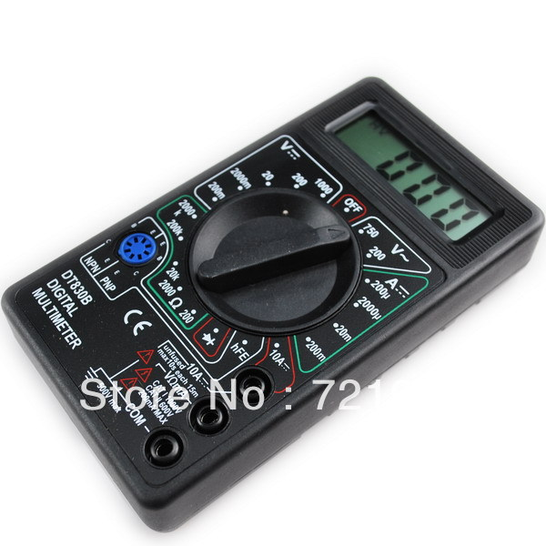 Ammeter Voltmeter Ohm Test Meter Professional Electric Digital Multimeter DT830B free shipping(China (Mainland))