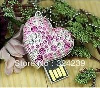 Set auger heart-shaped shell USB FLASH drive 2.0 4/8/16/32 gb