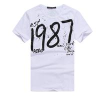 Trailer men's clothing 2015 summer fashion 1987 short-sleeve slim male t-shirt short-sleeve t shirt Men Clothes